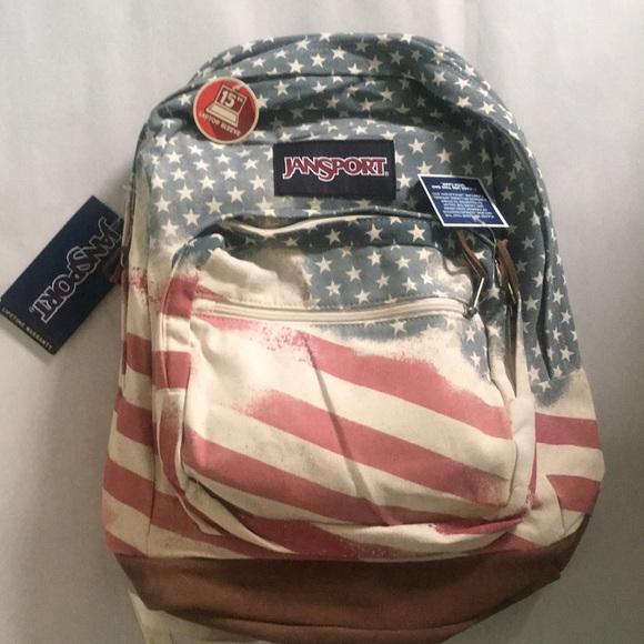 8702208cd Jansport Bags | American Flag Backpack | Poshmark